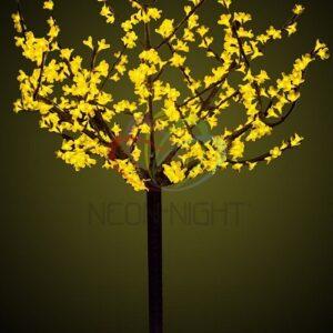 """531-301 Светодиодное дерево """"Сакура"""", высота 1,5 м, диаметр кронны 1,3м, желтые диоды, IP 44, понижающий трансформатор в комплекте"""