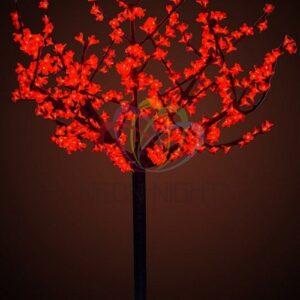 """531-302 Светодиодное дерево """"Сакура"""", высота 1,5 м, диаметр кроны 1,3м, красные диоды, IP 44, понижающий трансформатор в комплекте, NEON-NIGHT"""