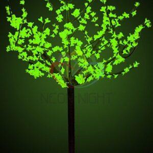 """531-304 Светодиодное дерево """"Сакура"""", высота 1,5 м, диаметр кроны 1,3м, зеленые диоды, IP 44, понижающий трансформатор в комплекте, NEON-NIGHT"""
