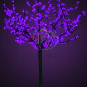 """531-306 Светодиодное дерево """"Сакура"""", высота 1,5 м, диаметр кроны 1,3м, фиолетовые диоды, IP 44, понижающий трансформатор в комплекте"""
