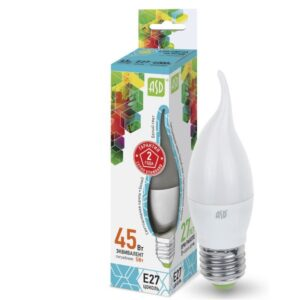 Лампа светодиодная LED-СВЕЧА НА ВЕТРУ-standard 5.0Вт 160-220В Е27 450Лм