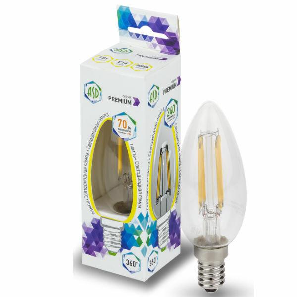 Лампа светодиодная LED-СВЕЧА-PREMIUM 5.0Вт 220В Е14 450Лм