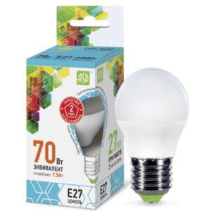 Лампа светодиодная LED-ШАР-standard 5Вт 220В Е27 450Лм