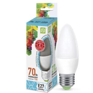 Лампа светодиодная LED-СВЕЧА-standard 7,5Вт 160-220В Е27 675Лм