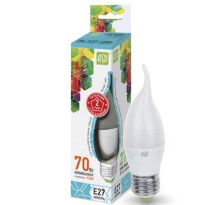 Лампа светодиодная LED-СВЕЧА НА ВЕТРУ-standard 7,5Вт 160-220В Е27 675Лм