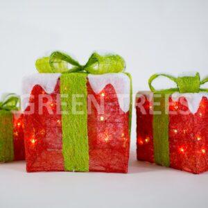 """Комплект световых подарков """"Красный"""" (коллекция """"Сланди"""")"""