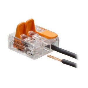Компактная соединительная клемма 3-х проводная с рычажками
