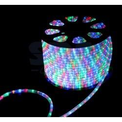 121-329-4 Дюралайт LED, свечение с динамикой (3W) – мульти (RYGB), 24 LED/м, бухта 100м