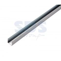 134-045 Короб алюминиевый для гибкого неона 15х26мм, длина 1 метр