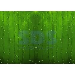 """235-154-6 Гирлянда """"Светодиодный Дождь"""" 2х3м, постоянное свечение, прозрачный провод, 230 В, диоды ЗЕЛЕНЫЕ, 448 LED"""