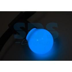 405-113 Лампа шар e27 3 LED Ø45мм – синяя