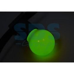 405-114 Лампа шар e27 3 LED Ø45мм – зеленая