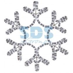 """501-210 Фигура """"Снежинка"""", цвет теплый белый, размер 30х28см"""