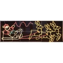 """501-311 Фигура световая """"Олени везут Санта Клауса на санях"""" размер 88*266 см NEON-NIGHT"""