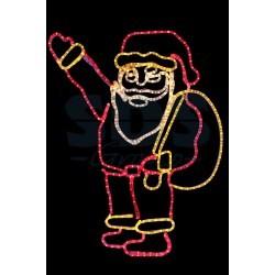 """501-312 Фигура """"Санта Клаус с мешком подарков"""", размер 100*100 см NEON-NIGHT"""