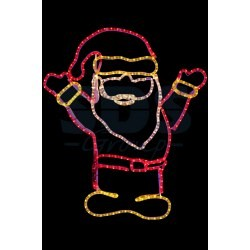 "501-318 Фигура ""Дед Мороз Привет!"", размер 83*69 см NEON-NIGHT"