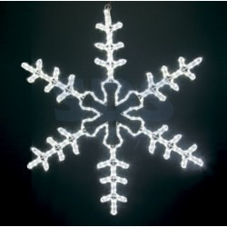 """501-333 Фигура световая """"Большая Снежинка"""" цвет белый, размер 95*95 см NEON-NIGHT"""