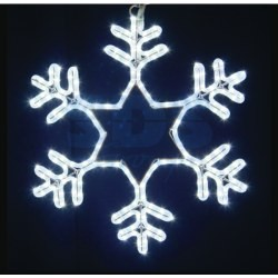 """501-337 Фигура световая """"Снежинка"""" цвет белый, размер 55*55 см, мерцающая NEON-NIGHT"""