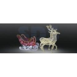 503-112 Фигура олени с санями NEON-NIGHT