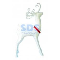 """514-271 Синтетическая 3D фигура """"Олень с красной лентой """", 122 см, 98 светодиодов"""