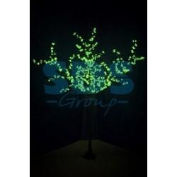 """531-324 Светодиодное дерево """"Сакура"""", высота 2, 4 м, диаметр кроны 1, 72м, зеленые диоды, IP 44, понижающий трансформатор в комплекте"""
