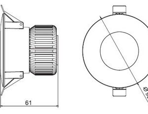 Светодиодный светильник встраиваемый 6W HGABRIEL IP65