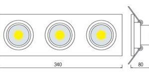Светодиодный светильник встраиваемый 30вт VERONICA-30 HL6713L