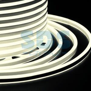 131-066 Гибкий Неон LED SMD, компактный 7х12мм, двухсторонний, ТЕПЛЫЙ БЕЛЫЙ, 120 LED/м, бухта 100м