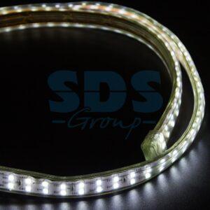 142-201 LED Лента 220В, 6. 5×17мм, IP67, SMD 2835, 180 LED/м, Белый, 100м