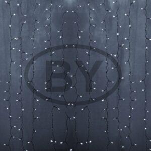 """235-135 Гирлянда """"Светодиодный Дождь"""" 2х3м, постоянное свечение, белый провод, 230 В, диоды БЕЛЫЕ, 760 LED"""