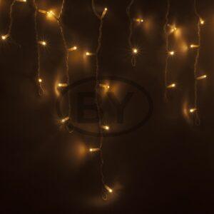 """255-286 Гирлянда Айсикл (бахрома) светодиодный, 5,6 х 0,9 м, белый провод """"КАУЧУК"""", 230 В, диоды ТЕПЛЫЙ БЕЛЫЙ, 240 LED"""