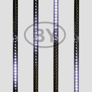 256-125 Сосулька светодиодная 50 см, 9,5V, двухсторонняя, 32х2 светодиодов, пластиковый корпус черного цвета, цвет светодиодов белый