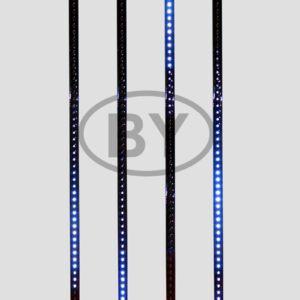 256-126 Сосулька светодиодная 80 см, 9,5V, двухсторонняя, 48х2 светодиодов, пластиковый корпус черного цвета, цвет светодиодов синий