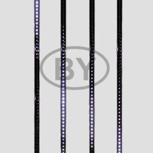 256-127 Сосулька светодиодная 80 см, 9,5V, двухсторонняя, 48х2 светодиодов, пластиковый корпус черного цвета, цвет светодиодов белый