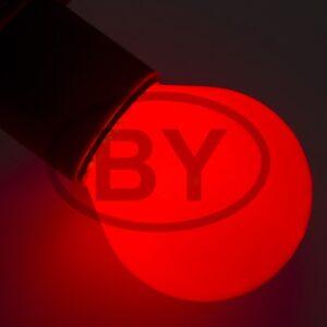 401-112 Лампа накаливания e27 10 Вт красная колба