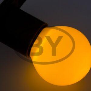 405-111 Лампа шар e27 3 LED Ø45мм – желтая