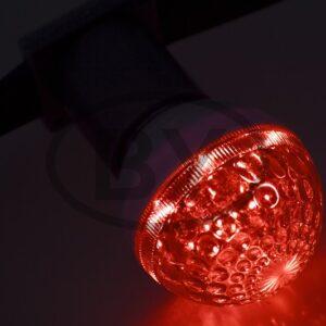 405-612 Лампа шар e27 10 LED Ø50мм красная 24В