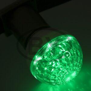 405-614 Лампа шар e27 10 LED Ø50мм зеленая 24В