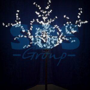 """531-325 Светодиодное дерево """"Сакура"""", высота 2, 4 м, диаметр кроны 1, 72м, белые диоды, IP 44, понижающий трансформатор в комплекте"""