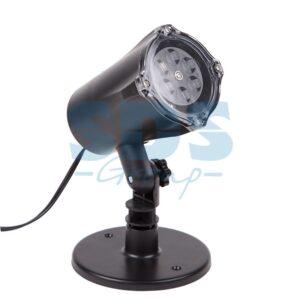 601-263 LED проектор, белые снежинки, 220В