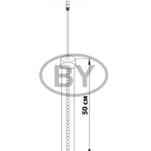256-121 Сосулька светодиодная 50 см, 9,5V, двухсторонняя, 32х2 светодиодов, пластиковый корпус черного цвета, цвет светодиодов зеленый