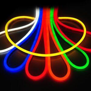 Мини Гибкий неон, 220V (120 диодов на метр) белый, красный, синий, зеленый