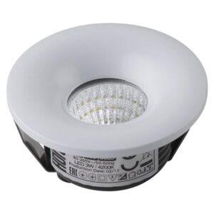 Светодиодный встраиваемый светильник 3вт BIANCA