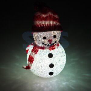 """513-019 Фигура светодиодная """"Снеговик"""" 10см, RGB"""