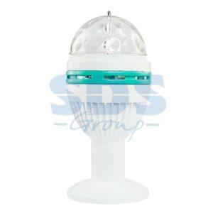 601-251 Диско-лампа светодиодная e27, подставка с цоколем e27 в комплекте, 230 В