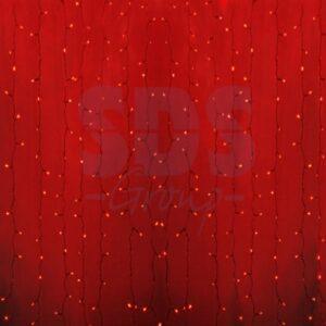 """235-102 Гирлянда """"Светодиодный Дождь"""" 2×0,8м, прозрачный провод, 230 В, диоды Красные, 160 LED"""