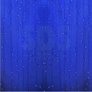 """235-303 Гирлянда """"Светодиодный Дождь"""" 2х1,5м, пстоянное свечение, прозрачный провод, 230 В, диоды СИНИЕ, 360 LED"""