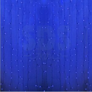 """235-103 Гирлянда """"Светодиодный Дождь"""" 2×0,8м, прозрачный провод, 230 В, диоды Синие, 160 LED"""
