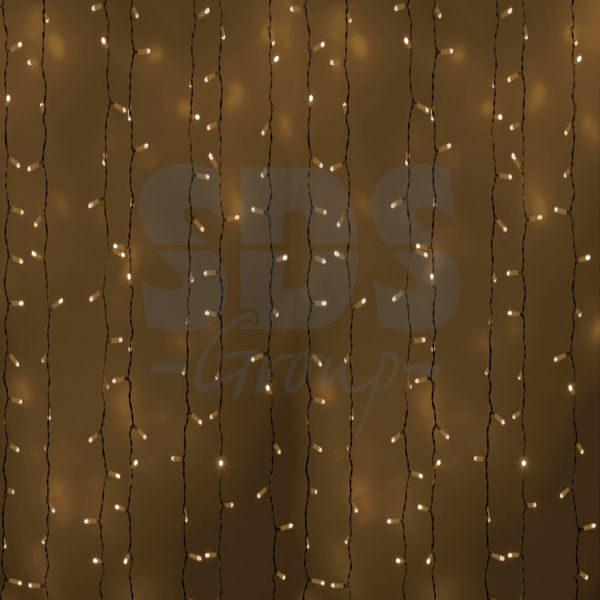 """235-116 Гирлянда """"Светодиодный Дождь"""" 2х1,5м, постоянное свечение, белый провод, 230 В, диоды ТЕПЛЫЙ БЕЛЫЙ, 360 LED"""