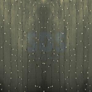 """235-156 Гирлянда """"Светодиодный Дождь"""" 2х3м, постоянное свечение, прозрачный провод, 230 В, диоды ТЕПЛО-БЕЛЫЕ, 760 LED"""